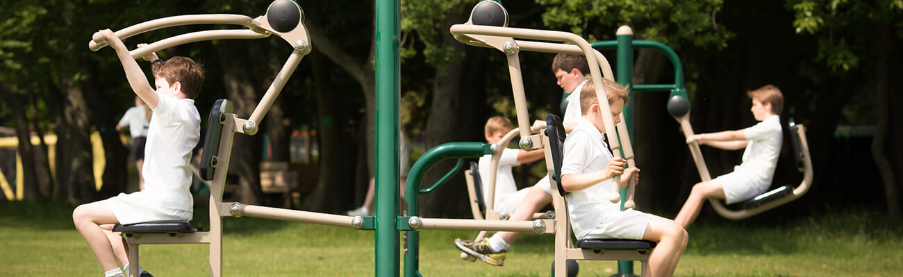 Outdoor Gym Equipment in Secondary School, Fresh Air Fitness